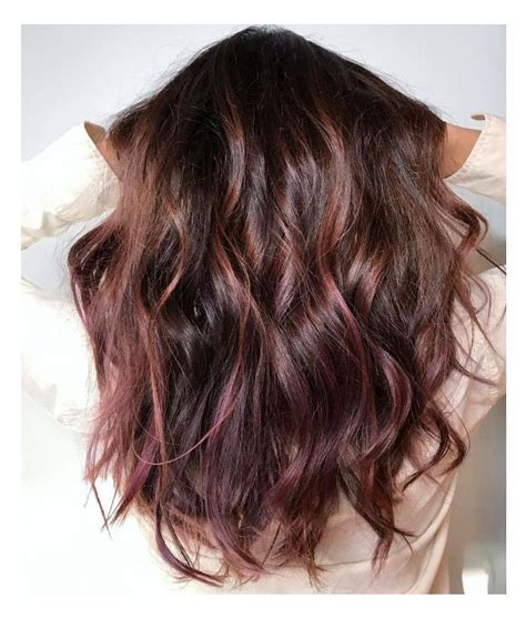 brunette to rose gold hair chocolate mauve hair is the new color trend blowing up on