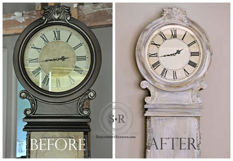 chalk paint grandfather clock serendipity refined rustic country milk