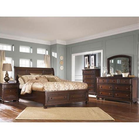 porter 5 king bedroom set in burnished brown