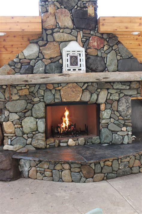 17 best ideas about river rock fireplaces on