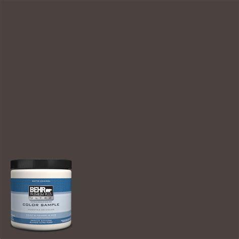 behr premium plus ultra 8 oz ppu17 17 plum shadow interior exterior satin enamel paint sle