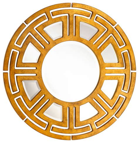 gold mirror pattern aztec hollywood regency gold leaf circular pattern wall