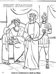 stations of the cross coloring pages az coloring pages - Stations Of The Cross Coloring Pages