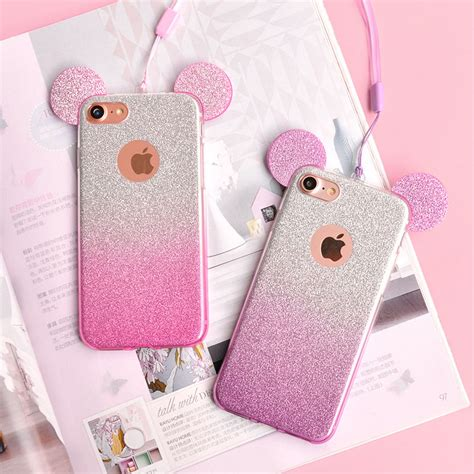 Iphone 5 5s Minnie Mouse Diskon Murah 1 glittery disney ears mickey minnie mouse iphone 5 5s se cover uk ebay