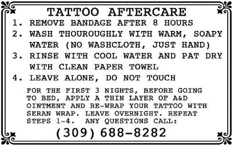 tattoo aftercare new tribe freedom ink tattoos peoria il