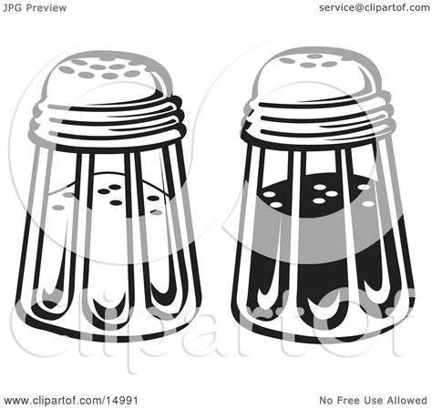 shaker clipart salt and pepper drawing images