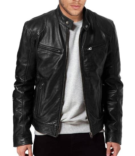 leather biker jacket s sword genuine lambskin black leather biker jacket