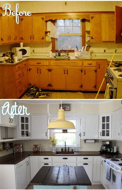 before after kitchen remodel pinterest painting pretty before and after kitchen makeovers