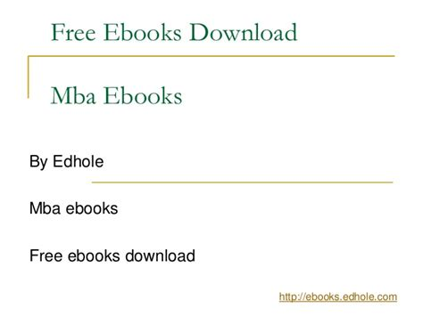 Free Mba Textbooks Downloads by Mba Ebooks Edhole