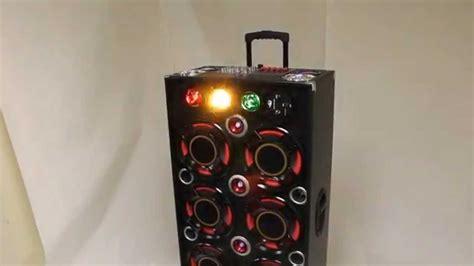 eluma lights speaker system portable dj speaker systems with party lights model sp
