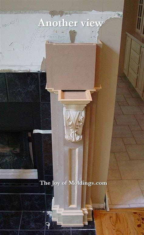Fireplace Mantel Extension by How To Build Fireplace Mantel 103 Part 7 Pilaster