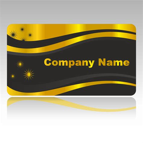 Golden Business Card Template by Vector For Free Use Golden Business Card