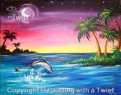paint with a twist lakeland fl bottlenose dolphin paintings