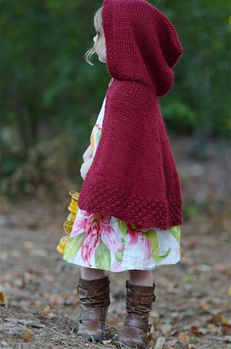 free pattern hooded cape free knitting pattern toddler children s clothes