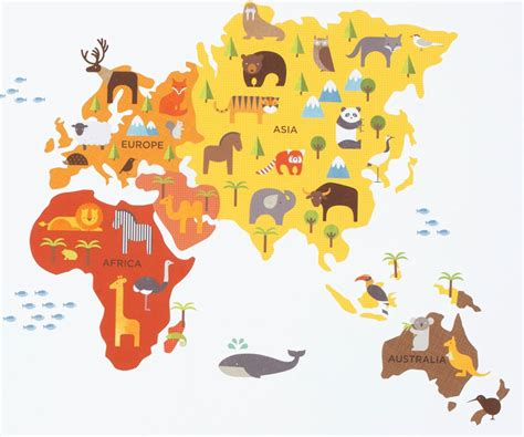 wall sticker map of the world map of the world wall sticker