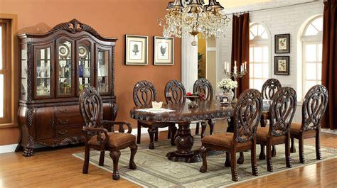 formal dining set 9 wyndmere formal dining set in cherry finish