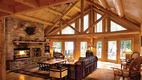 log cabin living rooms cabin living room ideas