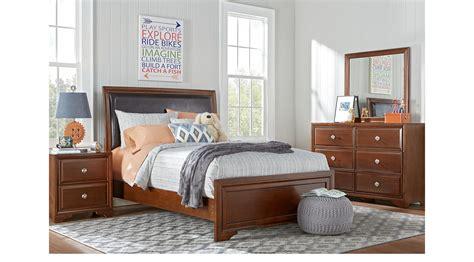 belcourt jr white 5 pc full panel bedroom teen bedroom belcourt jr cherry 5 pc full bedroom with upholstered inset