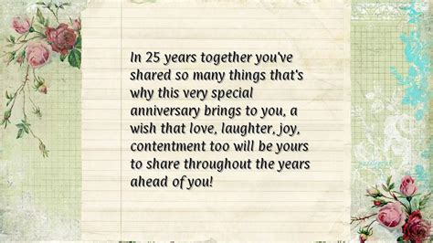 25th Wedding Anniversary Quotes To by Anniversary Quotes For Parents From In