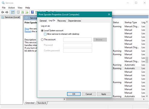 resetting printer spooler windows 10 fix print spooler service not working in windows 10 8 1 7