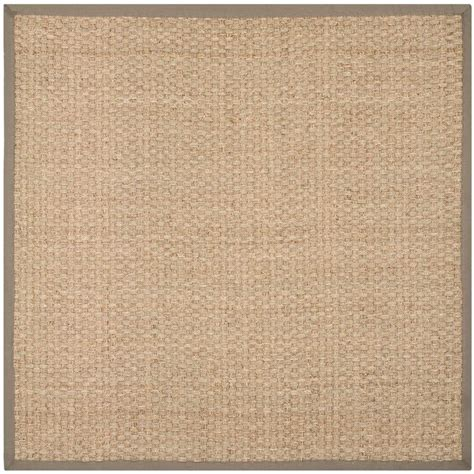 8 Foot Square Area Rugs Safavieh Fiber Beige Grey 8 Ft X 8 Ft Square Area Rug Nf114p 8sq The Home Depot