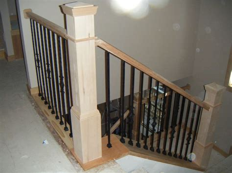 banister post tops wooden stairs rail base stair railing newles posts