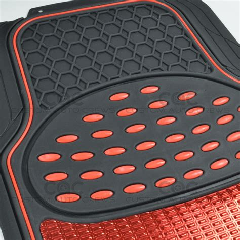 Black Car Mats by Car Rubber Floor Mats Metallic Design On Black Heavy Duty Rubber Ebay