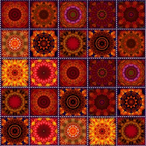 Orange Patchwork Quilt - orange quilt digital by boyd