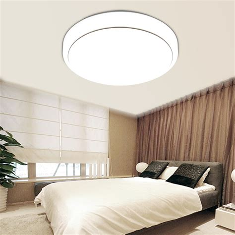 Bedroom Ceiling Lights Fixtures 18w Led Lighting Flush Mount Ceiling Light Fixtures 7000k Bedroom Kitchen Ebay