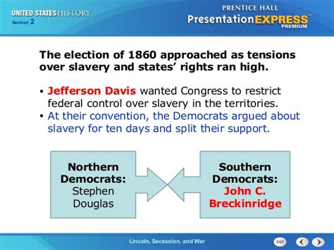 chapter 13 section 5 the election us history ch 3 section 2 notes