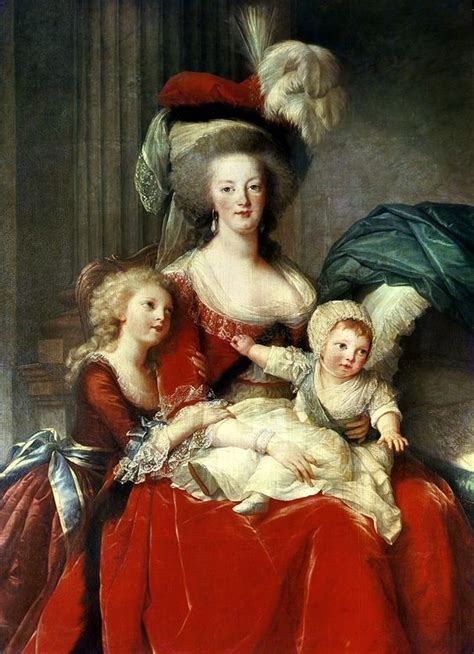 biography of mother marie louise de meester marie antoinette and her four children 1787 postcard