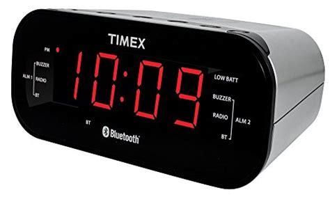 timex t332s bluetooth dual alarm radio alarm clock black merotx