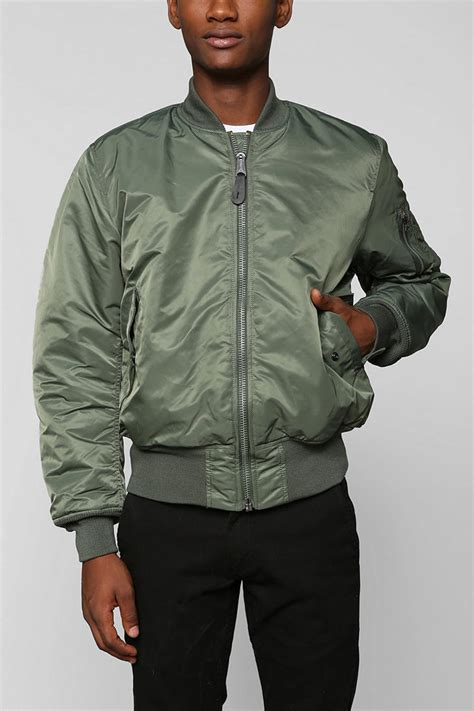 Jual Jaket Bomber Alpha Industries lyst outfitters alpha industries ma1 bomber jacket in green for