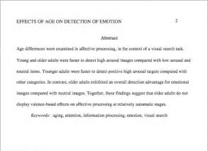 apa abstract template exle of apa style paper with abstract costa sol real