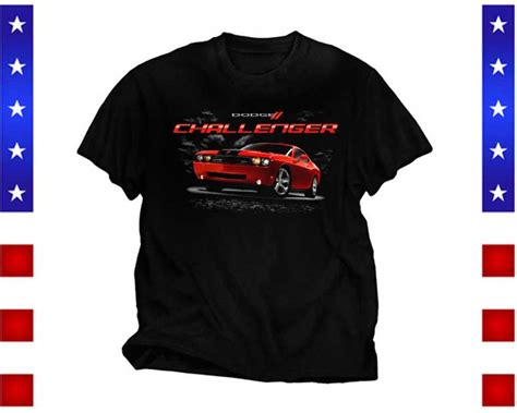 Dodge Black Shirt dodge challenger t shirt front print black ebay