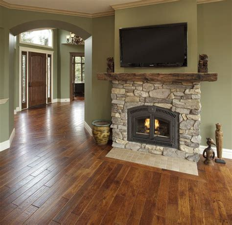 Living Room Wall Colors With Wood Floors The Green And The Floors The Paint Color Is Benjamin