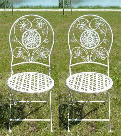 chaises salon de jardin paire de chaises en fer forg 233 pour salon de jardin