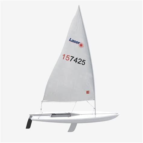 jacht laser laser sailing boat 3d model