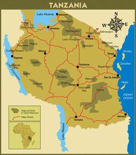 tanzania on the map mount kilimanjaro climb kilimandscharo active tours