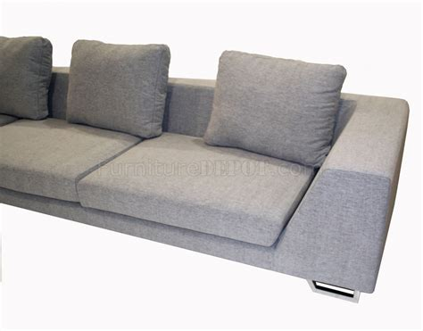 metal sofa leg grey fabric modern sectional sofa with metal legs