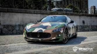 Maserati Wrap Maserati Granturismo S Gets Camo Wrap From Wrapstyle