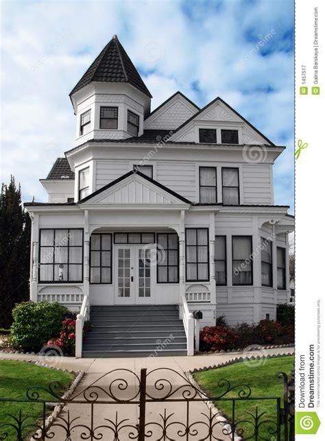 Queen Anne Victorian Home Plans by Belle Maison Victorienne Photographie Stock Libre De