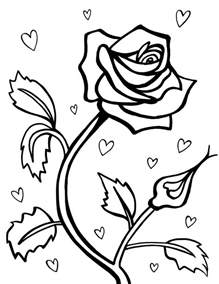 coloring pages printable free free printable roses coloring pages for