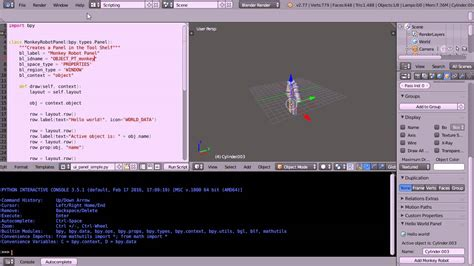 python tutorial how to blender python tutorial how to link a script to a button