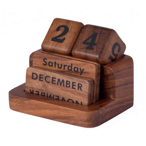 wooden desk calendar from m s christmas gifts for him