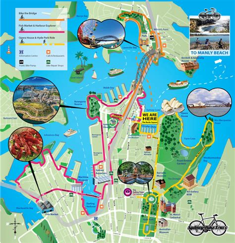 map of for tourists maps update 30001569 sydney tourist map sydney maps