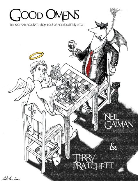 libro good omens good omens artwork terry pratchett and me
