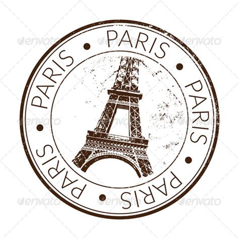 stock vector graphicriver paris stamp seal 5370004