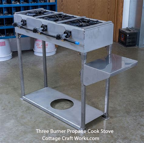 Outdoor Cooktop Propane - three burner outdoor professional gas cook stove