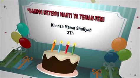 youtube membuat kartu ucapan undangan pesta ulang tahun khansa youtube